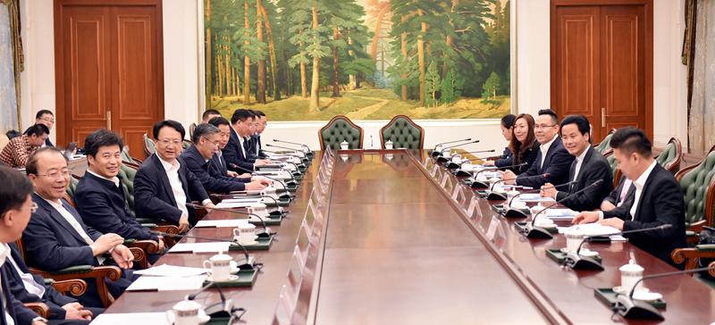 省政府与香港铜锣湾集团举行工作座谈会