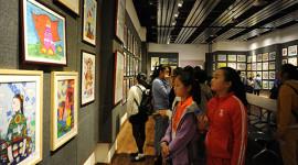 全省少年儿童书画大赛(展)在省文化馆开展(缩略图)