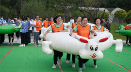 省图书馆举办第四届趣味运动会